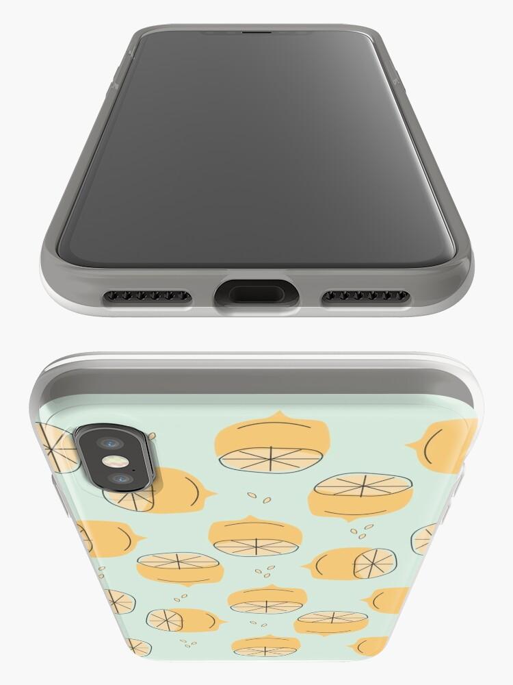 Alternate view of Lemon Pattern Illustration iPhone Case & Cover