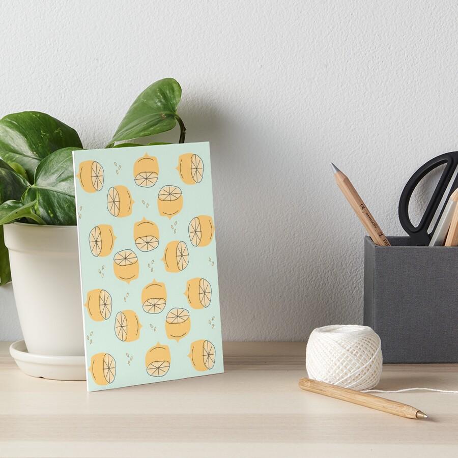 Lemon Pattern Illustration Art Board Print