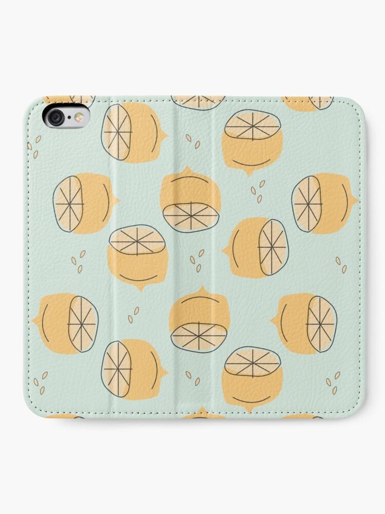 Alternate view of Lemon Pattern Illustration iPhone Wallet