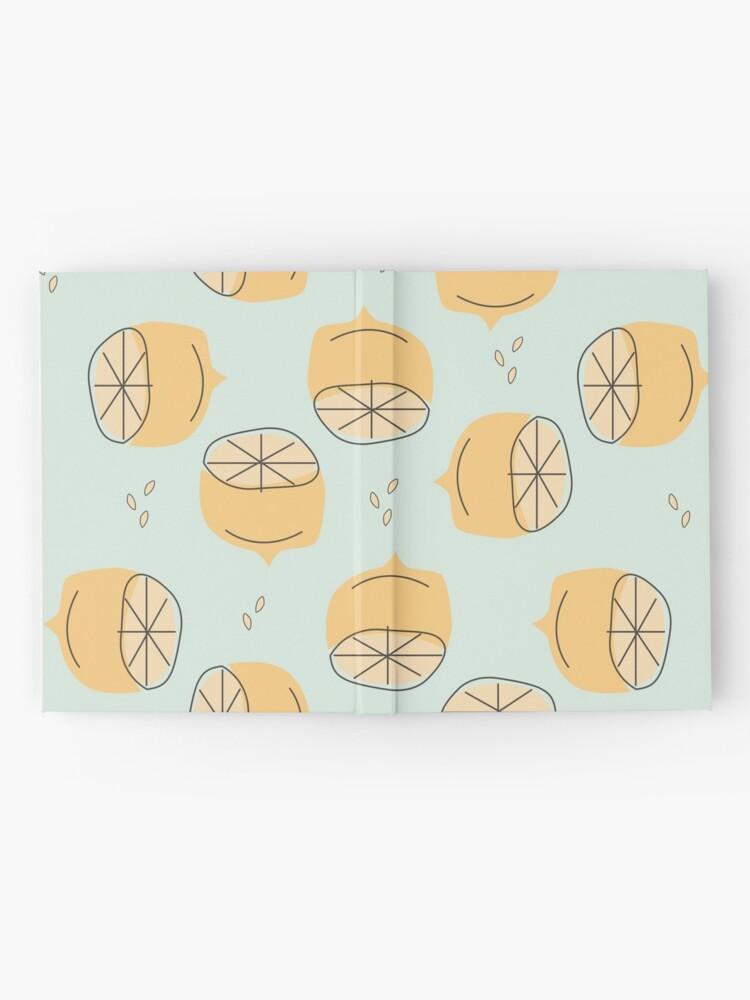 Alternate view of Lemon Pattern Illustration Hardcover Journal