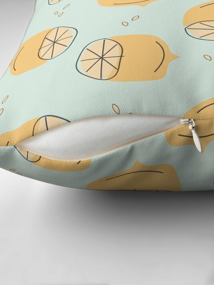 Alternate view of Lemon Pattern Illustration Throw Pillow