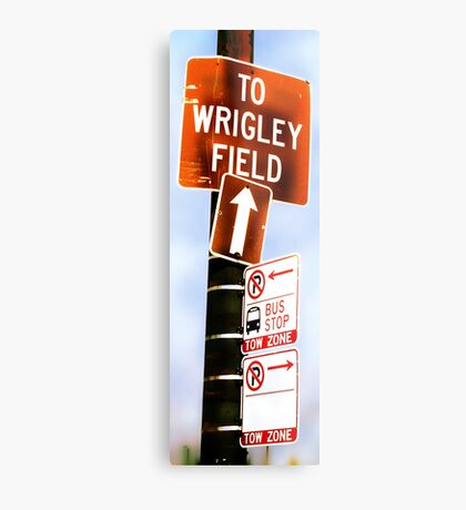 this way to wrigley field Metal Print