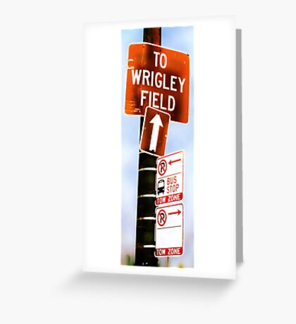 this way to wrigley field Greeting Card
