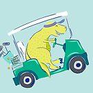 Golf Kart Dino von Jacqueline Hurd