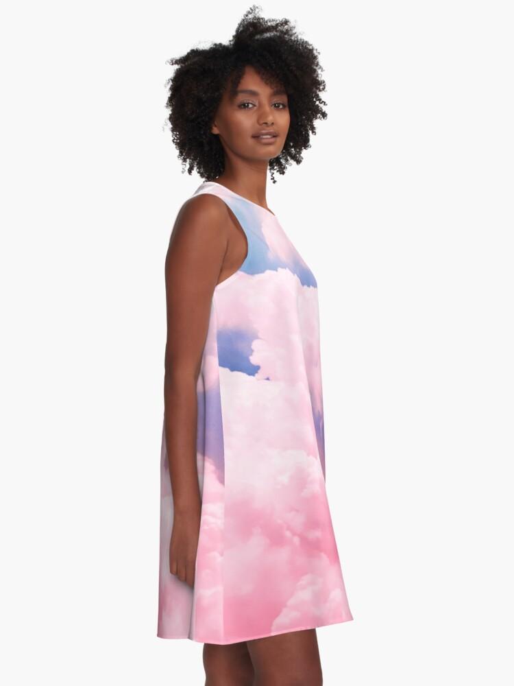 Alternative Ansicht von Süßigkeiten Himmel A-Linien Kleid