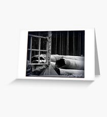 stave drains  Greeting Card