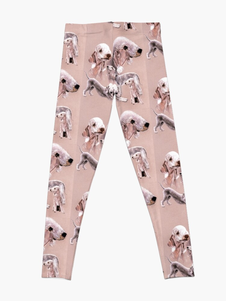 Alternate view of Bedlington Terrier Collage Leggings