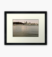 Boats at Matilda Bay Framed Print