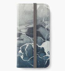 Blaues Meer Marmor iPhone Flip-Case/Hülle/Klebefolie