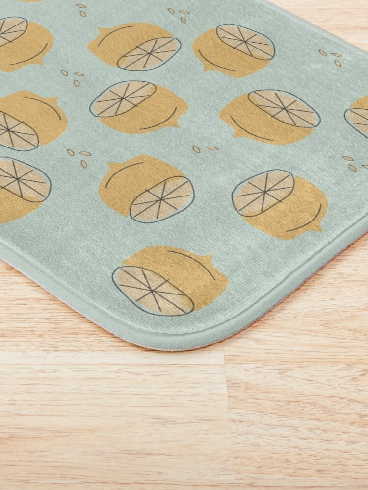 Alternate view of Lemon Pattern Illustration Bath Mat