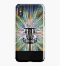 Disc Golf Basket Silhouette iPhone Case
