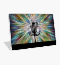 Disc Golf Basket Silhouette Laptop Skin