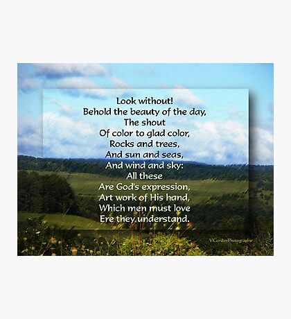 Behold the Day - Inspirational Photographic Print