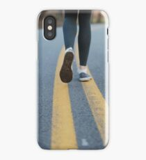 Walking down the road iPhone Case/Skin