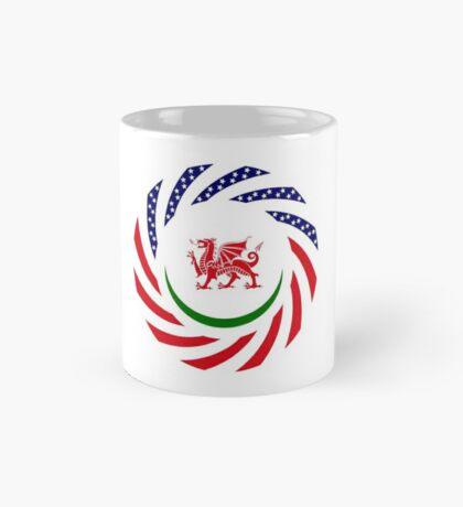 Welsh American Multinational Patriot Flag Series Mug