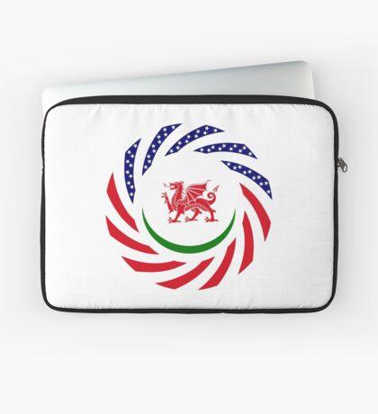 Welsh American Multinational Patriot Flag Series Laptop Sleeve