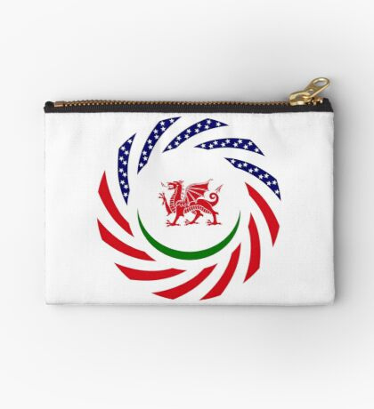 Welsh American Multinational Patriot Flag Series Zipper Pouch