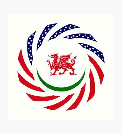 Welsh American Multinational Patriot Flag Series Art Print