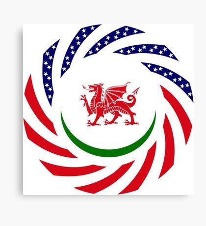 Welsh American Multinational Patriot Flag Series Canvas Print