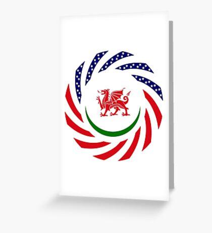 Welsh American Multinational Patriot Flag Series Greeting Card