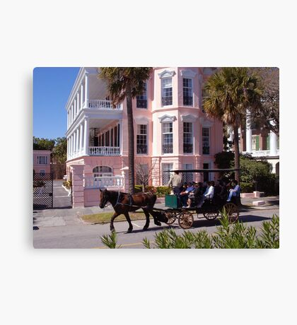 Horse Carriage at the Battery in Charleston Canvas Print