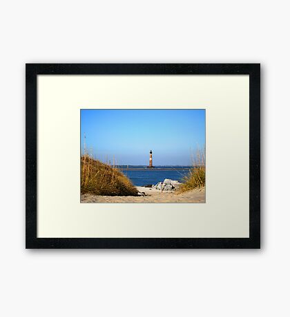 The Lighthouse on Morris Island Charleston Framed Print