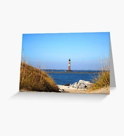 The Lighthouse on Morris Island Charleston Greeting Card