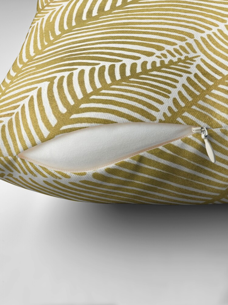 Alternate view of Tropical Gold Throw Pillow