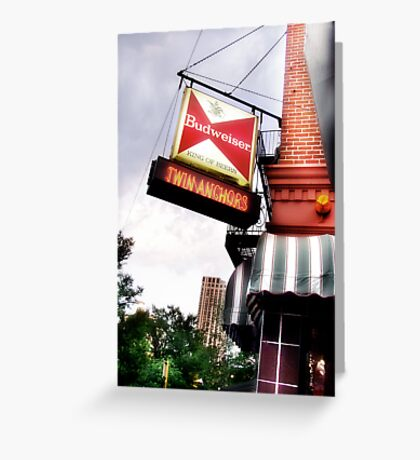 twin anchors, chicago style ribs Greeting Card