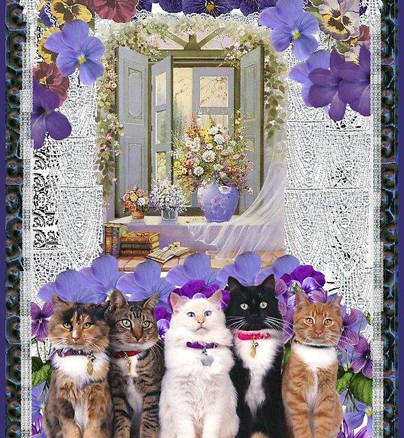 Cats – Window by Duckydaddles