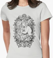 Cosmic Lovers  - ink solo version Womens Fitted T-Shirt