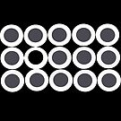 Black and White Circles and Dots by Sonia Keshishian