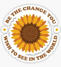 Be The Change (Ashley Scott Designs) Sticker
