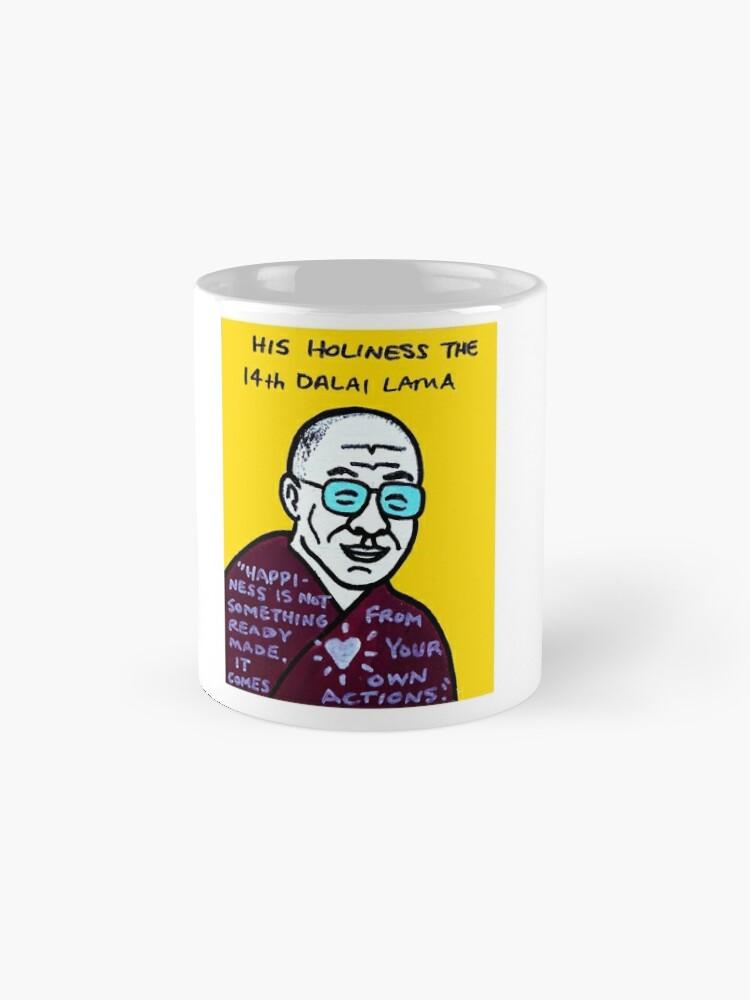 Alternate view of Dalai Lama Pop Folk Art Mug