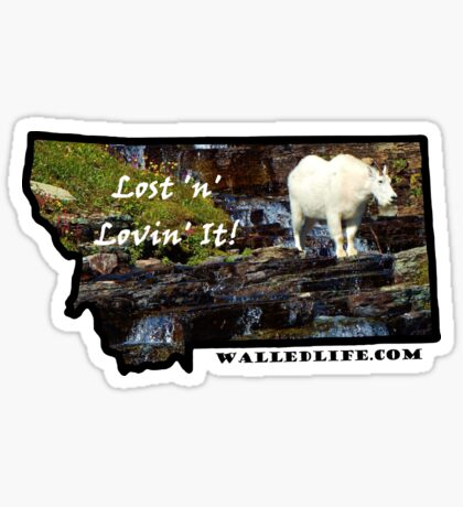 Montana Mountain Goat Sticker