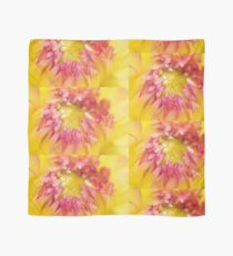 Pink and Yellow Dahlia, As Is Scarf