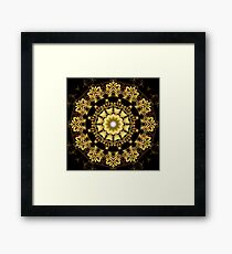 A Golden Fractal Fantasy Kaleidoscope Ring Framed Print