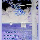 """I love to be out in nature...featured in """"Art inspired by written words"""" by ©The Creative  Minds"""