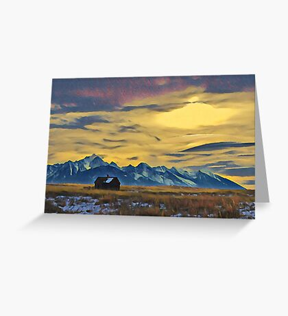 Mission Mountains Shed  Greeting Card