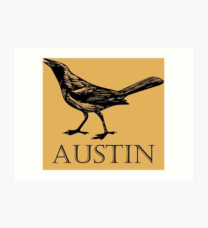 Austin Grackle Art Print