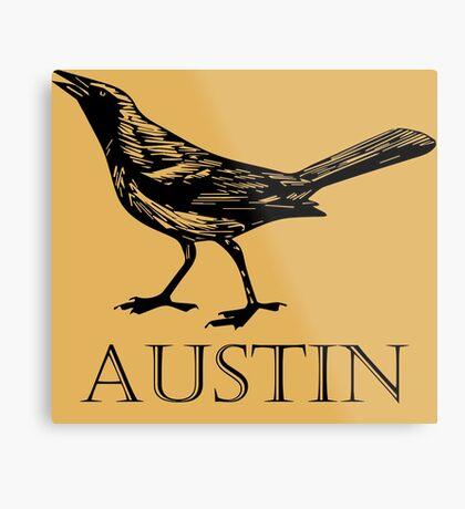 Austin Grackle Metal Print
