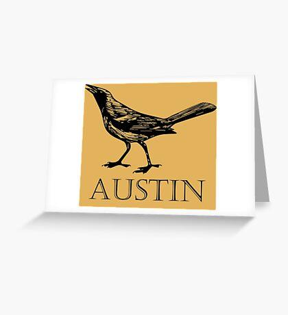 Austin Grackle Greeting Card