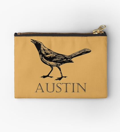 Austin Grackle Zipper Pouch