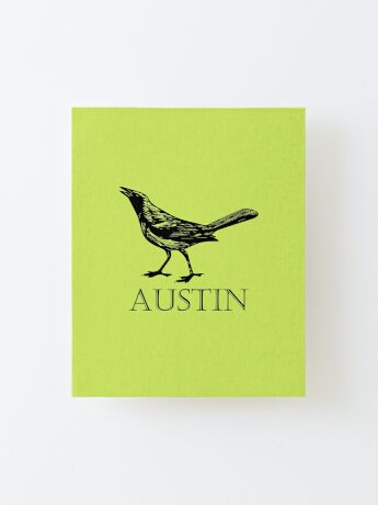 Austin Grackle Canvas Mounted Print