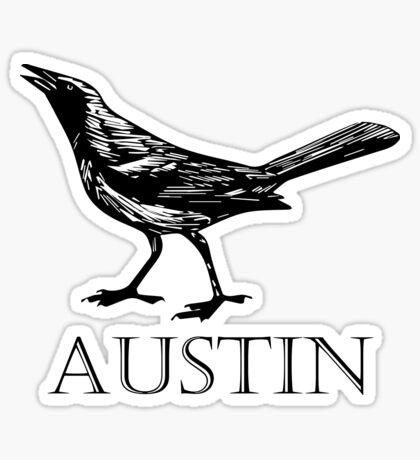 Austin Grackle Sticker