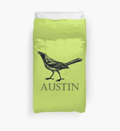 Austin Grackle Duvet Cover