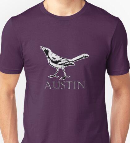 Austin Grackle - Black and White T-Shirt