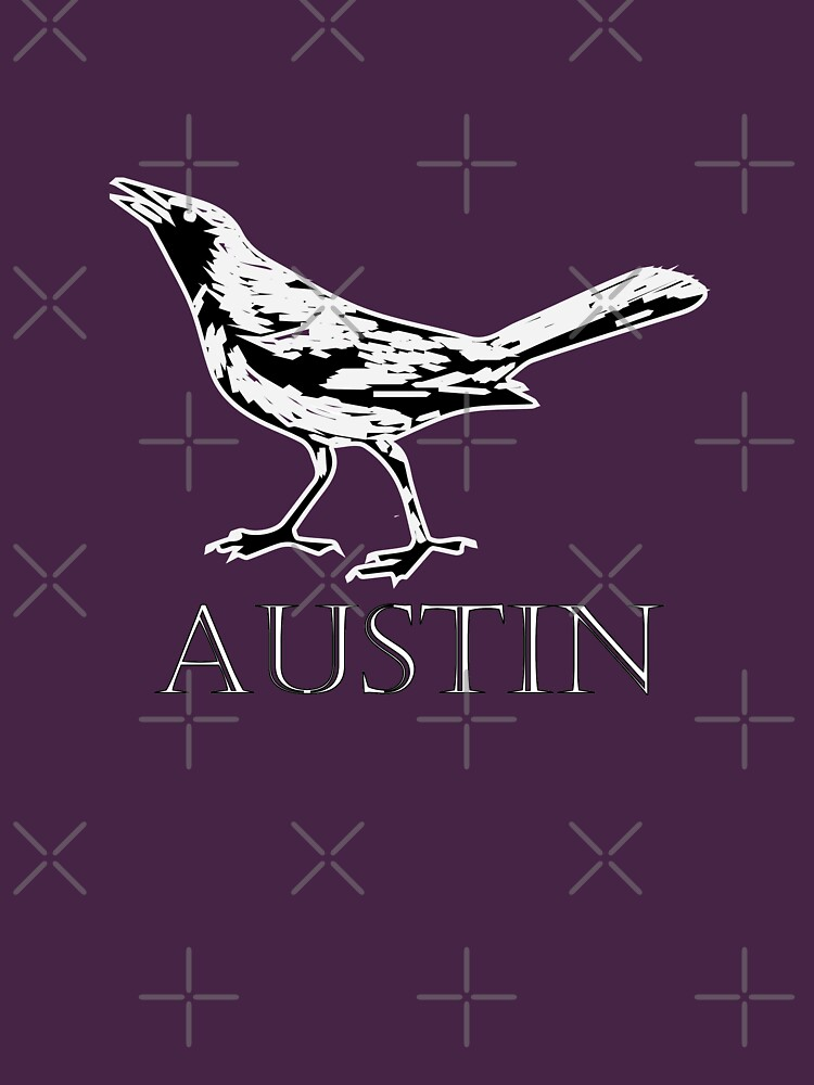 Austin Grackle - Black and White by willpate