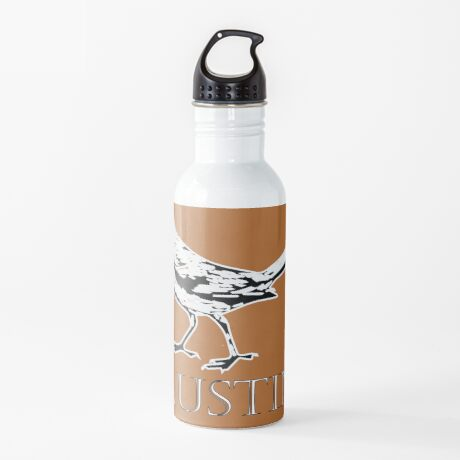 Austin Grackle - Black and White Water Bottle
