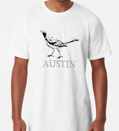 Austin Grackle - Black and White Long T-Shirt